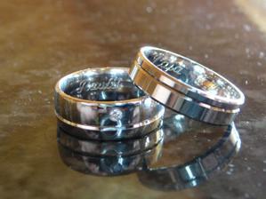 naše prstýnky s briliantíkem :o)