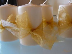 ozdobené svíčky