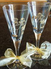 naše skleničky, které jsem malovala :o)