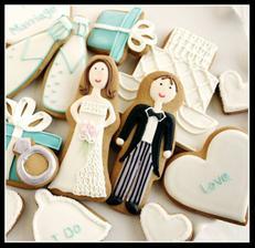 perníčky ženich a nevěsta
