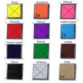 Jednobarevné polštářky na razítkování - čtverce,