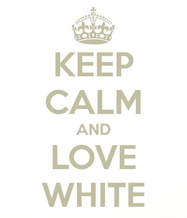 I love white ..... - Obrázek č. 1