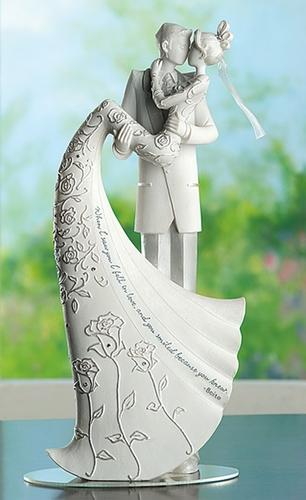 Sapphire - powder blue wedding - Přenádherná soška..tu bych možná chtěla i koupit (dá se půjčit), ale byla by nádherná i na památku na poličku :)
