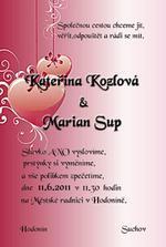 Naše svat.oznámení vlastní výroba :)