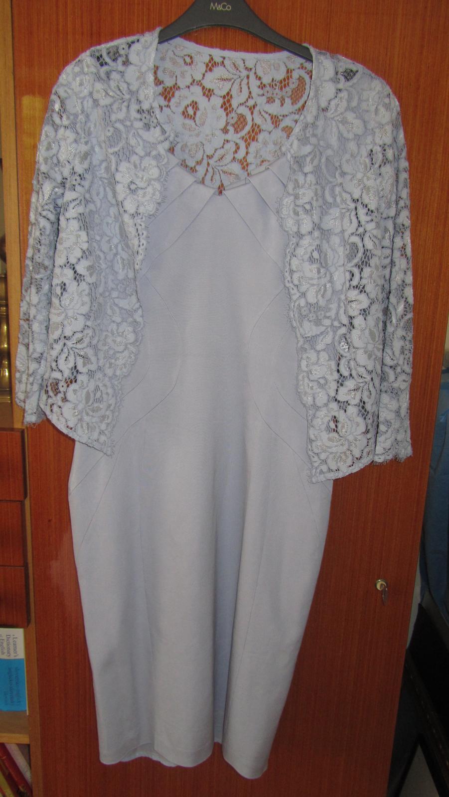 šaty + bolerko čipkované - Obrázok č. 1