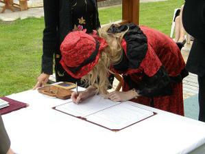podpis nevěsty