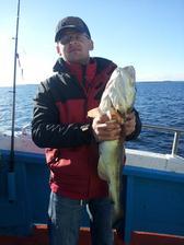 3,5kg 66cm I. miesto za najväčší úlovok. Rybačka v medzinárodných vodách Sweden-Danmark