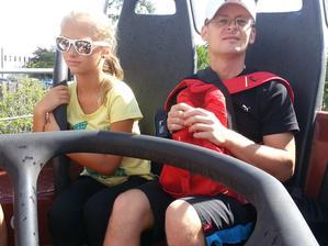 Ja a moja malá dcéra, došla ku mne na par dni na prazdniny aj švagrinka ako doprovod.