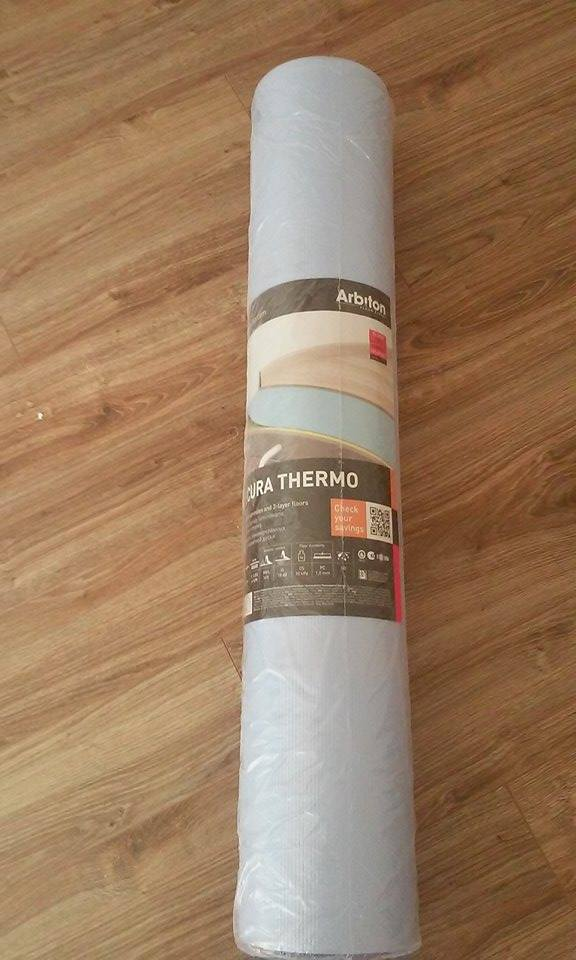 Predám podložku pod plávajúce podlahy ARBITON Thermo Plus 1,6mm na podlahové kúrenie. Cena  0,80€/m2, spolu 49,50 m2 - Obrázok č. 1