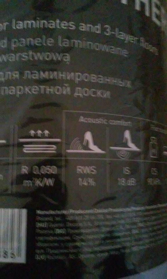 Predám podložku pod plávajúce podlahy ARBITON Thermo Plus 1,6mm na podlahové kúrenie. Cena  0,80€/m2, spolu 49,50 m2 - Obrázok č. 3