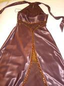 Spoločenské saténové dlhé šaty, 38