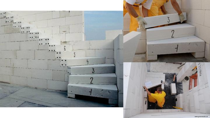 Použité v domčeku :o) - Ytong schodisko na odporúčanie projektantky