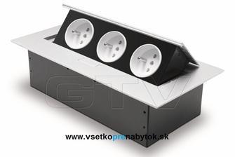 do kuchynskej elektrická zásuvka GTV biele
