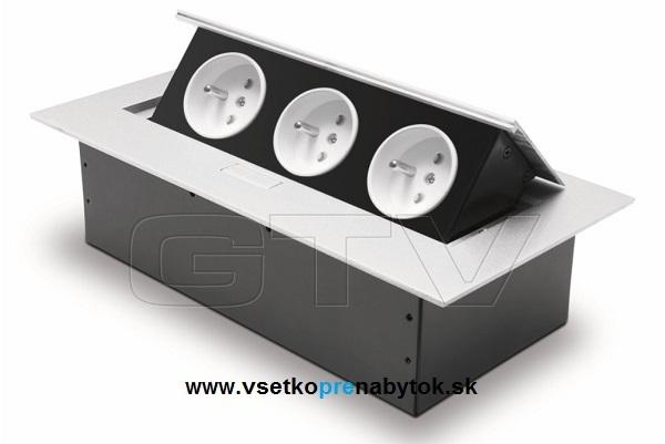 Použité v domčeku :o) - do kuchynskej elektrická zásuvka GTV biele
