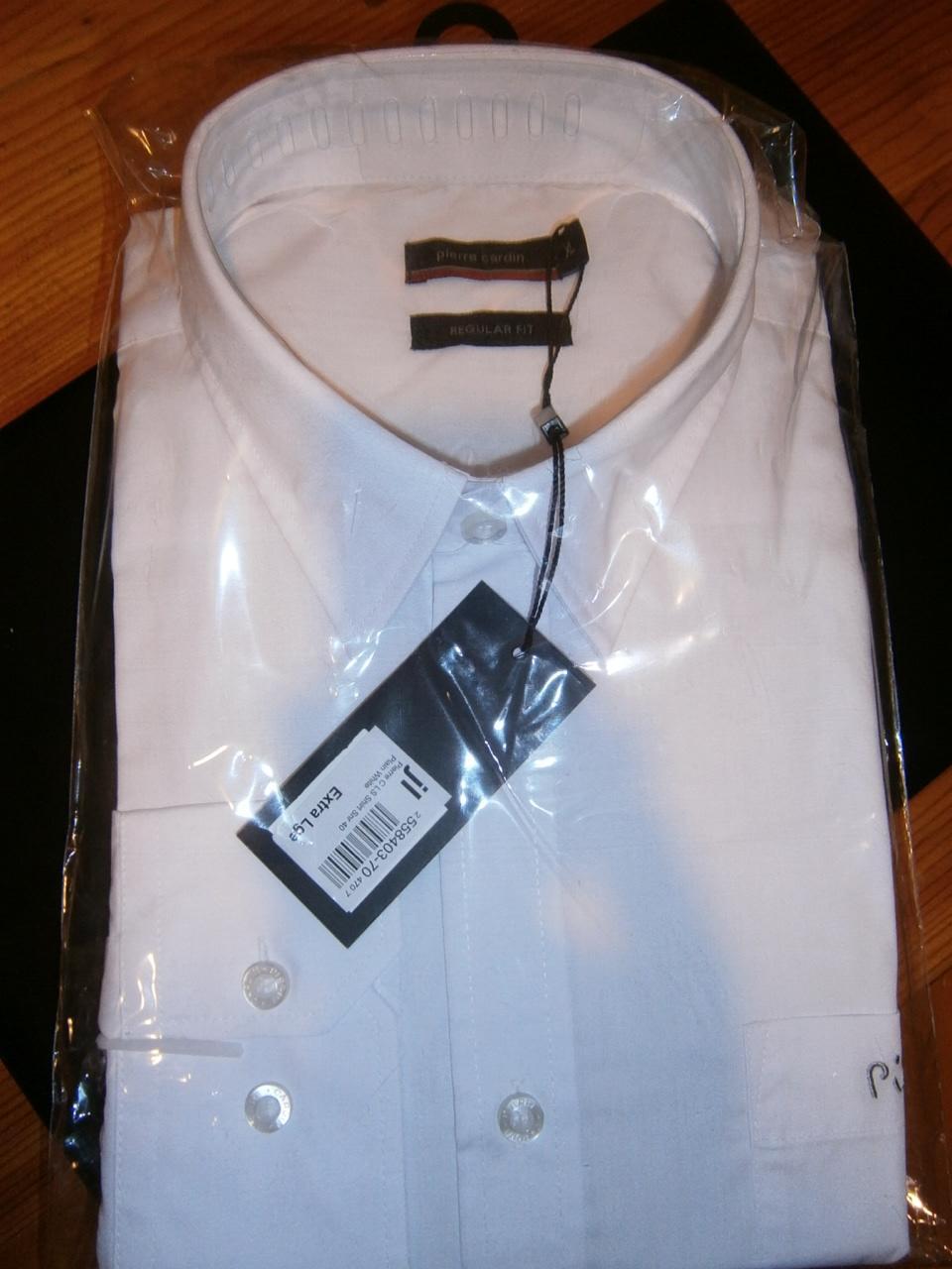 nenosena biela košela, velkost XL, Pierre cardin - Obrázok č. 1