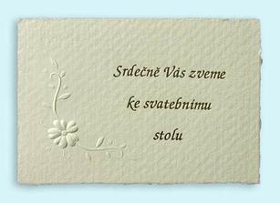 pozvanka ke svatebnimu stolu u zatim vybraneho oznamka