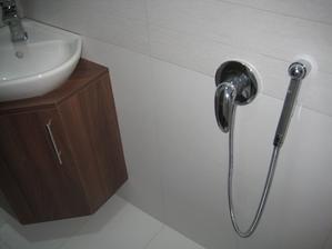 03/2014 - také bidetová sprška ve spodním WC. Použití ale plánuji na napouštění kýble s vodou k vytírání na spodním patře.
