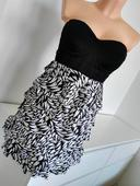 Bílo černé šaty , 38