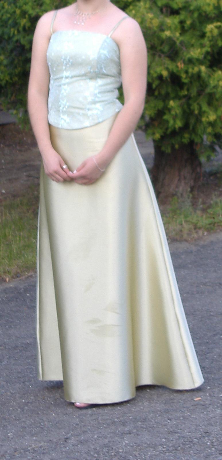 Svetlozelené korzetové šaty - Obrázok č. 1