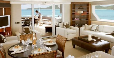 Obýváček na jachtě