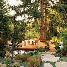 luxusní teráska v lese