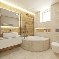 Vymýšlím koupelnu.Líbí se mi uspořádání i barvičky.