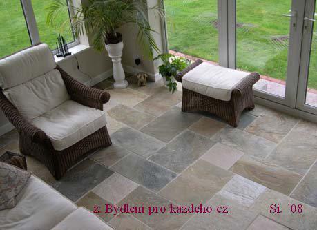 ::budoucnost::  stavební inspirace - kamenná podlaha -barevnost