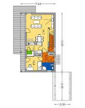 Takhle bych chtěla postavit kuchyni. Ekoline 270, Zastavěná plocha: 86.3 m2. IDEÁLNÍ ČLENĚNÍ V PŘÍZEMÍ