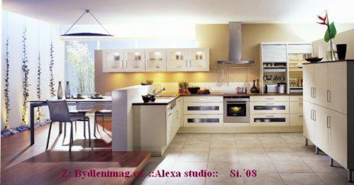 ::interiér:: - snadná komunikace v prostoru. část -jídelna, část-kuchyně..otevřený prostor s třetí částí  (obyvák? pracovna?)
