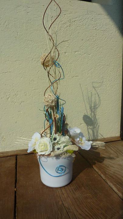 Moje hoby-moja láska *aranžovanie* - aranžmán v kvetináči výška cca 80cm