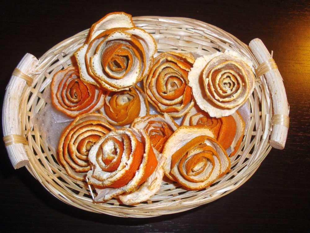 pomarančové ružičky v košíku - Obrázok č. 3