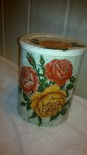 dalšia plechovica s ružou vintage-servitka ma velky uspech