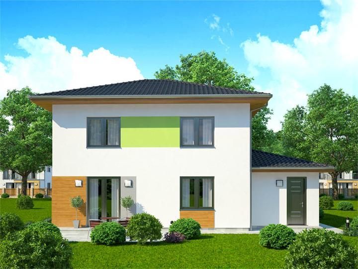 Dom - Takto nejako bude vyzerat nas domcek zozadu