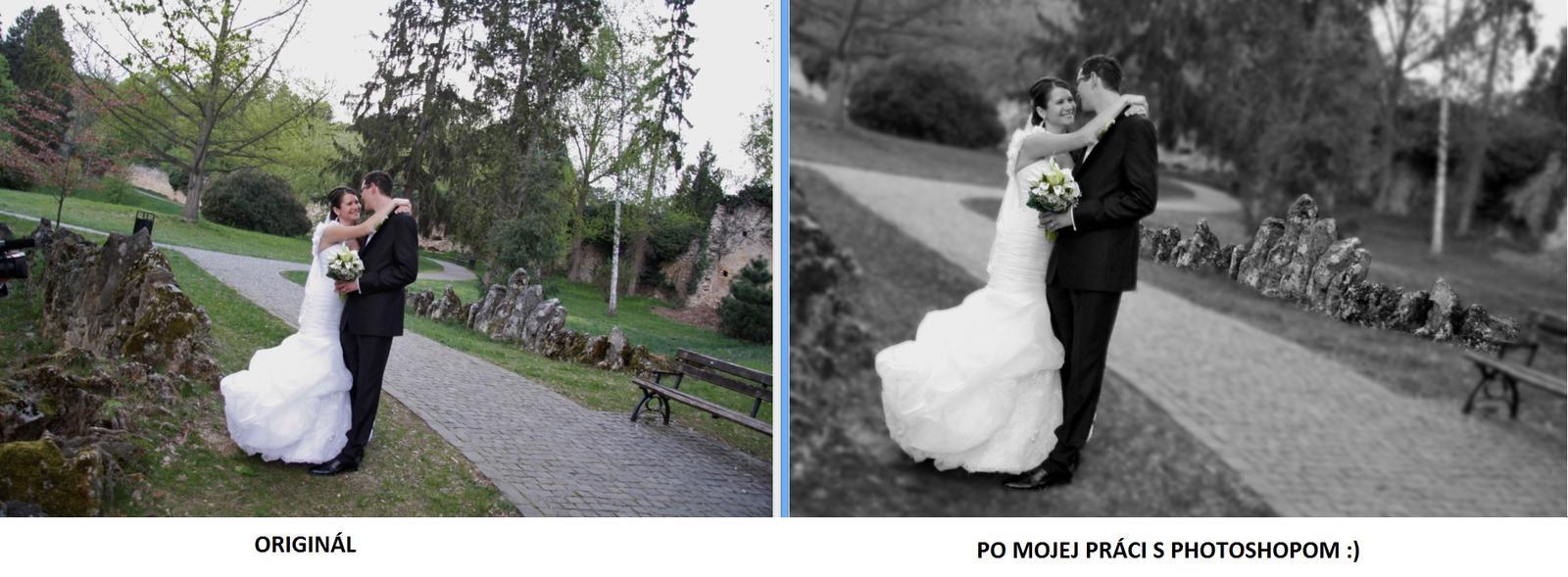 A takto to vyzeralo - učím sa pracovať s photoshopom  :)
