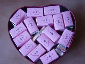 čokoládky jako dárek pro svatebčany