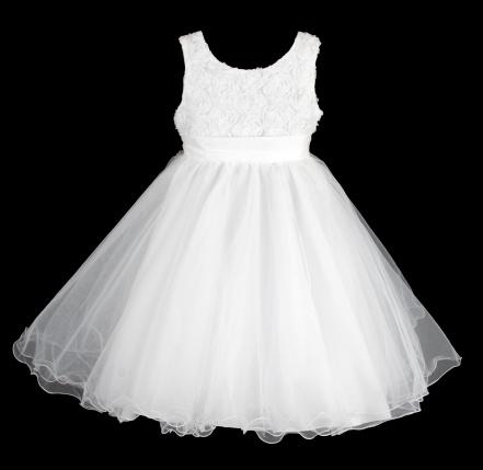 Šaty družička - bílé , vel. 104/110 - Obrázek č. 4
