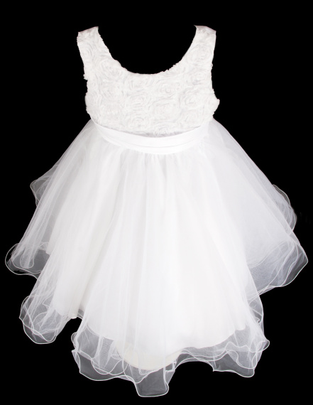 Šaty družička - bílé , vel. 98/104 - Obrázek č. 4