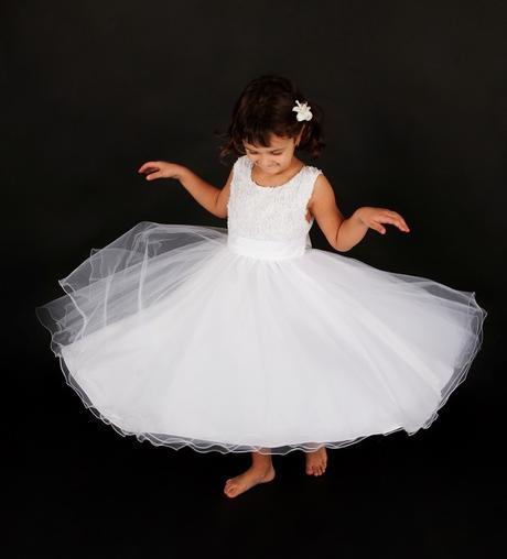 Šaty družička - bílé , vel. 110/116 - Obrázek č. 1