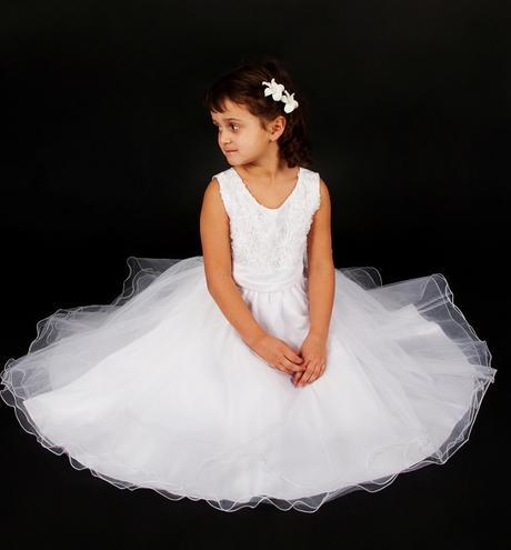 Šaty družička - bílé , vel. 98/104 - Obrázek č. 1
