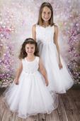 Šaty pro družičku, svatba, Diamonds vel.146/152, 152