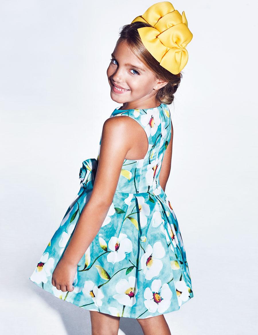 Šaty flower - modré - Obrázek č. 1