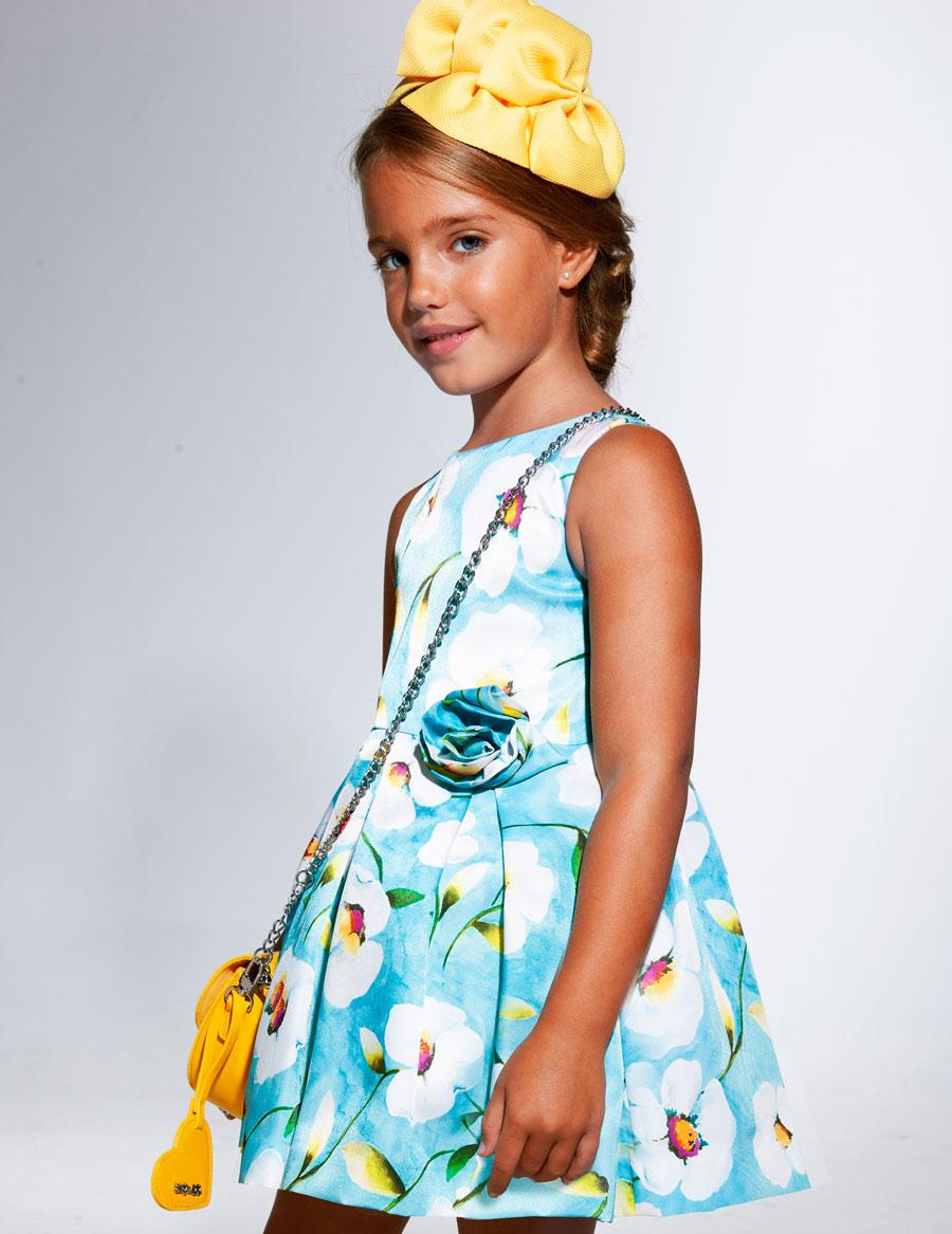 Šaty flower - modré - Obrázek č. 2