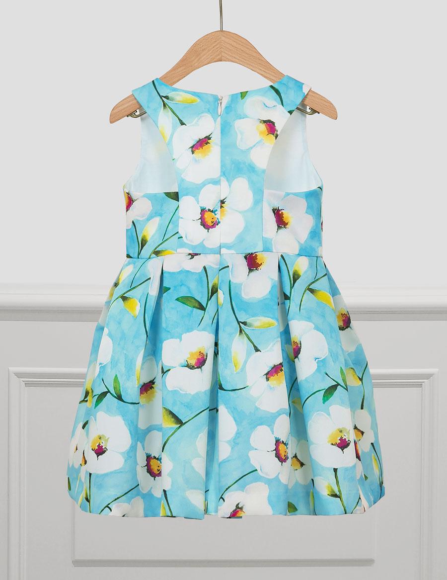 Šaty flower - modré - Obrázek č. 3