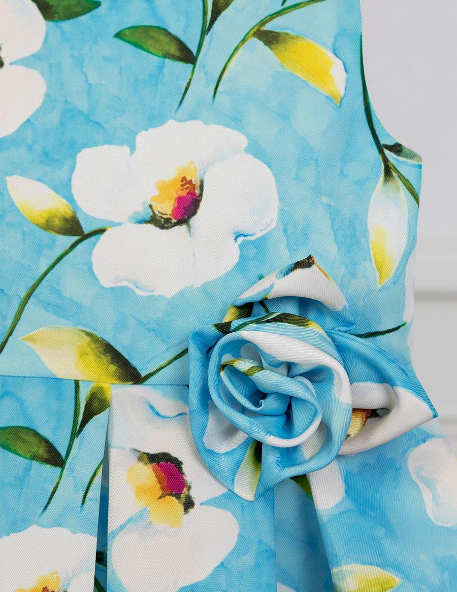 Šaty flower - modré - Obrázek č. 4