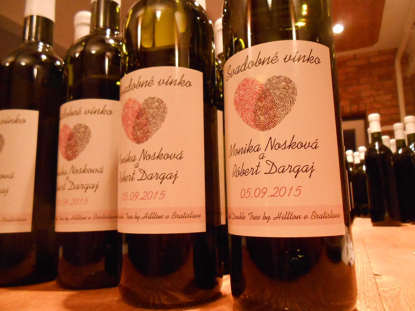 vinomaravilla - Svadobné víno s etiketou podľa svadobného oznámenia
