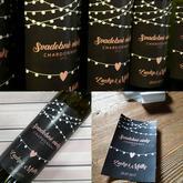 Svadobné vínko bola jasná voľba, etiketu si navrhla sama zákazníčka