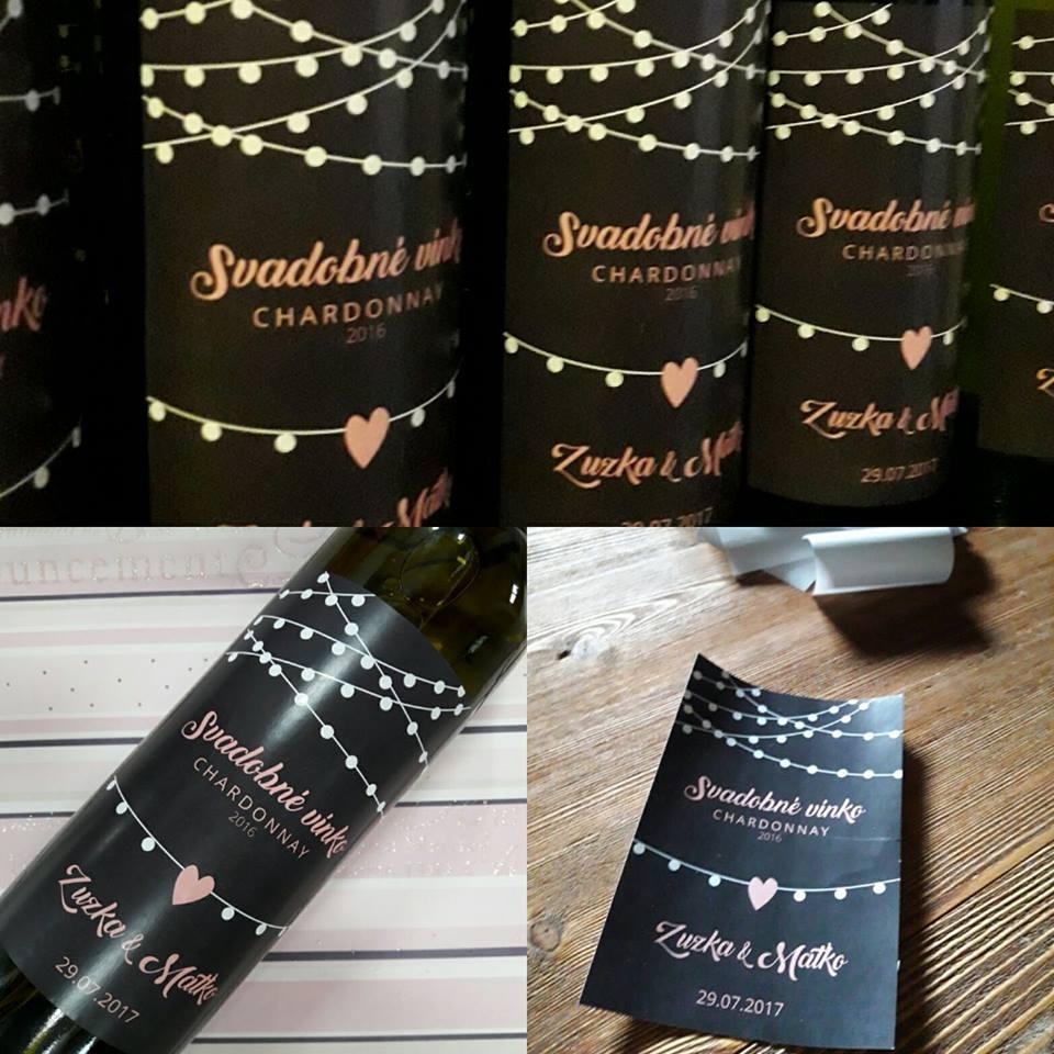 vinomaravilla - Svadobné vínko bola jasná voľba, etiketu si navrhla sama zákazníčka