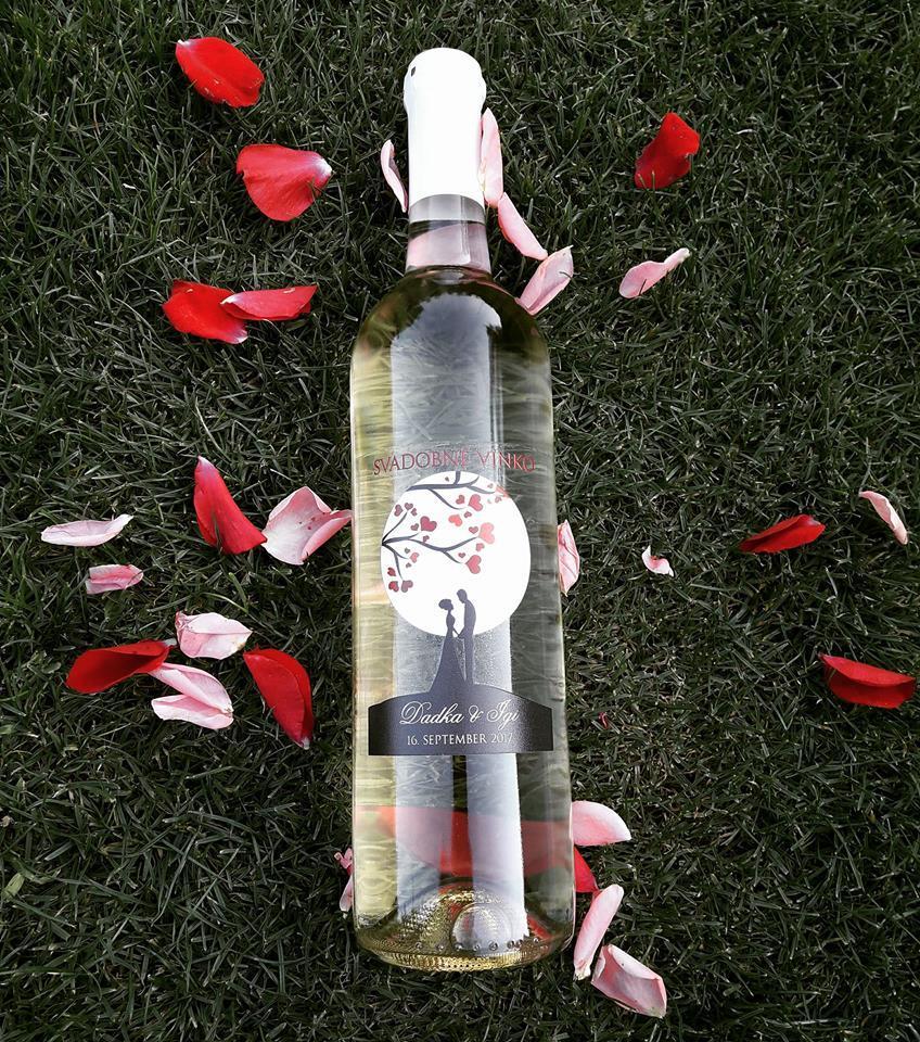 vinomaravilla - Svadobná výslužka s etiketou, ktorú nám nevesta dodala