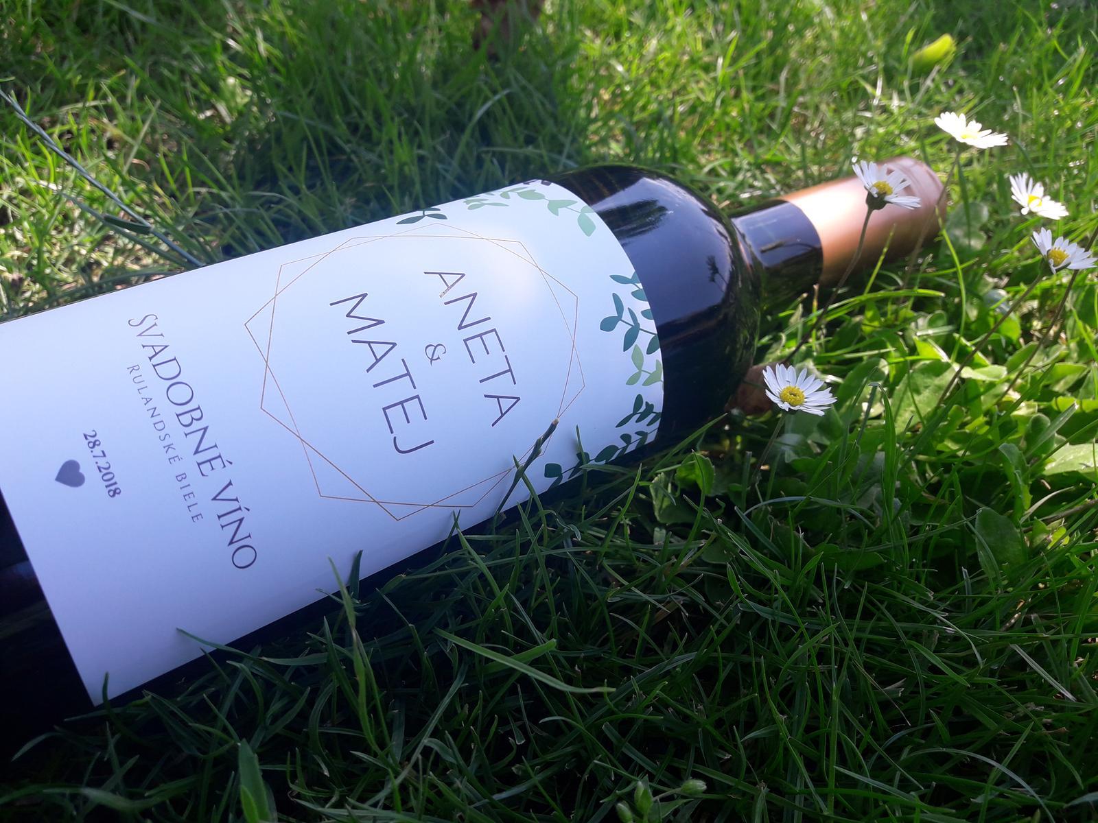 vinomaravilla - Svadobné vínko so štýlovou modernou etiketou. Tieto motívy sú momentálne in