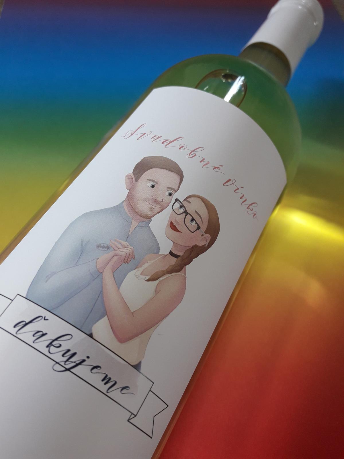 vinomaravilla - Svadobné výslužky s vlastnou etiketou. Výroba nevesty.. tlieskame :)